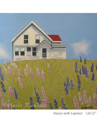 House With Lupines